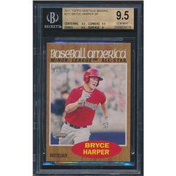 2011 Topps Heritage Minors #211 Bryce Harper RC (BGS 9.5)