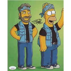 """Tommy Chong Signed """"The Simpsons"""" 8x10 Photo (JSA COA)"""