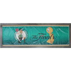 """Brian Scalabrine Signed Boston Celtics 48.75x145 Finals Banner Inscribed """"2008 World Champs"""" (Your S"""