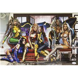 "Greg Horn Signed Marvel ""Women of X-Men"" 13x19 Lithograph (JSA COA)"
