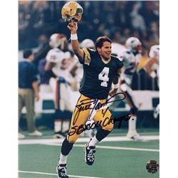 "Brett Favre Signed Green Bay Packers 8x10 Photo Inscribed ""SBXXXI Champs!"" (Favre COA)"