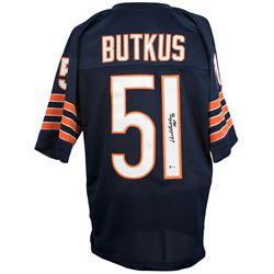 "Dick Butkus Signed Chicago Bears Jersey Inscribed ""HOF 79"" (Beckett COA)"