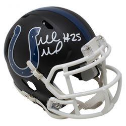 Marlon Mack Signed Indianapolis Colts Matte Black Speed Mini Helmet (JSA COA)