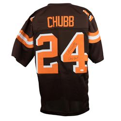 """Nick Chubb Signed Cleveland Browns Jersey Inscribed """"Dawg Pound"""" (JSA COA)"""