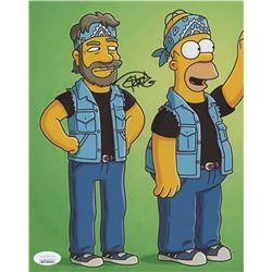 "Tommy Chong Signed ""The Simpsons"" 8x10 Photo- ""Cheech  Chong"" (JSA COA)"