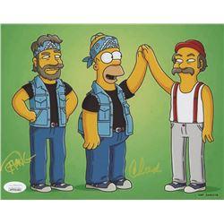 "Tommy Chong  Cheech Marin Signed ""The Simpsons"" 8x10 Photo - ""Cheech  Chong"" (JSA COA)"