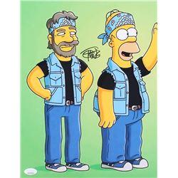 "Tommy Chong Signed ""The Simpsons"" 11x14 Photo - ""Cheech  Chong"" (JSA COA)"
