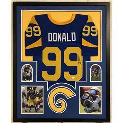 Aaron Donald Signed Los Angeles Rams 34x42 Custom Framed Jersey (JSA COA)