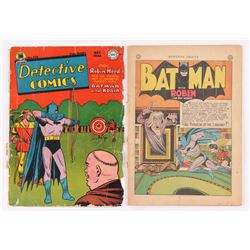 "Lot of (2) 1945-1946 DC Comic ""Detective Comics"" Books with Issues #106  #116 Cover"