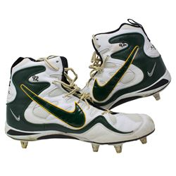 Reggie White Green Bay Packers Game Used Pair of Nike Cleats (Hunt Auctions COA)