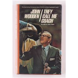 "John Wooden Signed ""They Call Me Coach"" Hardcover Book Inscribed ""Thank You"" (PSA COA)"