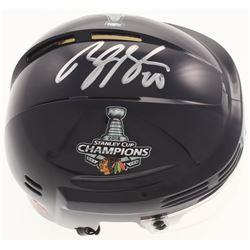Brandon Saad Signed 2015 Stanley Cup Champions Mini-Helmet (Saad COA)