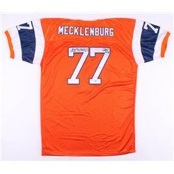 Karl Mecklenburg Signed Denver Broncos Jersey with (5) Inscriptions (PSA Hologram)