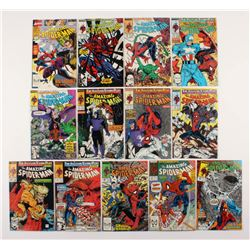 """Lot of (13) 1989-90 """"The Amazing Spider-Man"""" #317-328 Marvel Comic Books"""