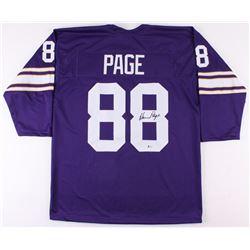 Alan Page Signed Minnesota Vikings Throwback Jersey (Beckett COA)