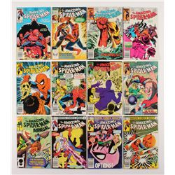 """Lot of (12) 1983-84 """"The Amazing Spider-Man"""" #242-253 Marvel Comic Books"""