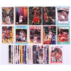 Lot of (50) Michael Jordan Basketball Cards with 1989-90 Fleer #21, 1993-94 Topps Gold #23, 1990-91