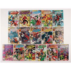 """Lot of (16) 1990-91 """"The Amazing Spider-Man"""" #329-344 Marvel Comic Books"""