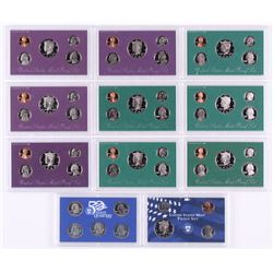 Lot of (10) 1990-1999 United States Mint Proof Sets