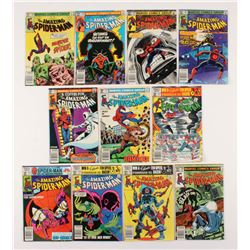 """Lot of (11) 1981-82 """"The Amazing Spider-Man"""" #220-230 Marvel Comic Books"""