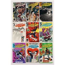 """Lot of (9) 1987-88 """"The Amazing Spider-Man"""" #288-295 Marvel Comic Books"""