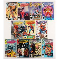 """Lot of (11) 1984-85 """"The Amazing Spider-Man"""" #254-264 Marvel Comic Books"""