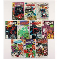 """Lot of (10) 1988-89 """"The Amazing Spider-Man"""" #308-316 Marvel Comic Books"""