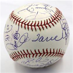 New York Yankees 2005 OML Baseball Team-Signed by (29) with Randy Johnson, Joe Torre, Mariano Rivera