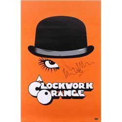 """Malcolm McDowell Signed """"A Clockwork Orange"""" 24x36 Movie Poster (Radtke Hologram)"""