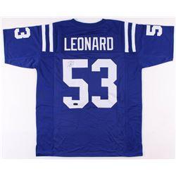 Darius Leonard Signed Indianapolis Colts Jersey (Radtke COA)