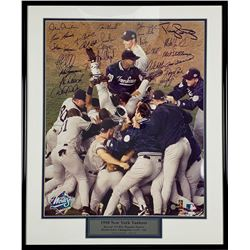 1998 New York Yankees 16x20 Custom Framed Photo Display Team Signed By (25) with Mariano Rivera, Mik