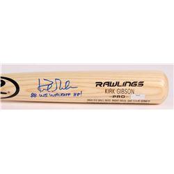 "Kirk Gibson Signed Rawlings Custom Engraved Pro Baseball Bat Inscribed ""88 WS Walkoff HR!"" (Radtke C"