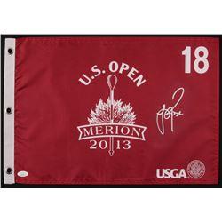 Justin Rose Signed 2013 U.S. Open Merion Golf Pin Flag (JSA COA)