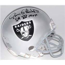 "Jim Plunkett Signed Oakland Raiders Mini-Helmet Inscribed ""S.B. XV MVP"" (Radtke COA)"