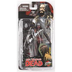 "Tom Payne Signed ""The Walking Dead"" Black  White Action Figure (Radtke COA)"