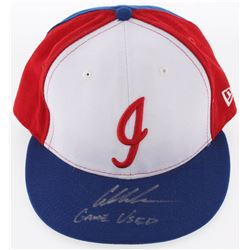 """Austin Meadows Signed Game-Used Indianapolis Indians New Era Fitted Baseball Hat Inscribed """"Game Use"""