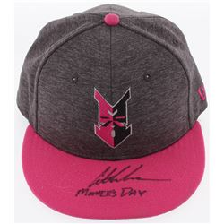 """Austin Meadows Signed Indianapolis Indians New Era Fitted Baseball Hat Inscribed """"Mother's Day"""" (Rad"""