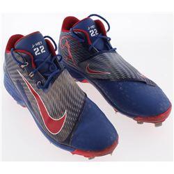 Pair of (2) Jason Heyward Game-Used Nike Air Swingman Legend Cleats (Radkte COA)