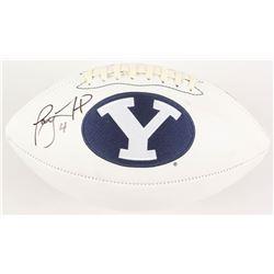Taysom Hill Signed BYU Cougars Logo Football (Radtke COA)