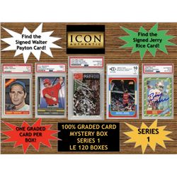 Icon Authentic 100% Graded Card Series 1 Mystery Box (Guaranteed (1) Graded PSA or Beckett Card in E