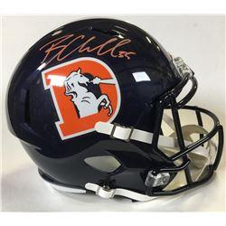 Bradley Chubb Signed Denver Broncos Full-Size Throwback Speed Helmet (Beckett COA)