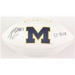 "Rashan Gary Signed Michigan Wolverines Logo Football Inscribed ""Go Blue"" (Radtke COA)"