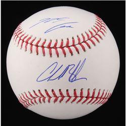 Charlie Blackmon  Nolan Arenado Signed OML Baseball (Fanatics Hologram  MLB Hologram)