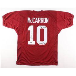 "AJ McCarron Signed Alabama Crimson Tide Jersey Inscribed ""36-4 Career Records""  ""3x National Champ"""