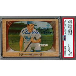 Pee Wee Reese Signed 1955 Bowman #37 (PSA Encapsulated)