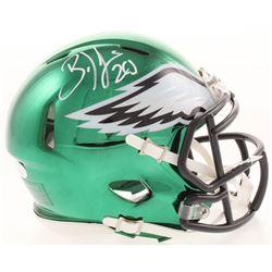 Brian Dawkins Signed Philadelphia Eagles Chrome Mini Speed Helmet (JSA COA)
