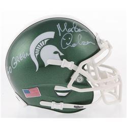 "Morten Andersen Signed Michigan State Spartans Mini-Helmet Inscribed ""Go Green"" (Radtke COA)"