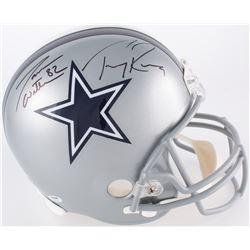 Tony Romo  Jason Witten Signed Dallas Cowboys Full-Size Helmet (PSA COA  Witten Hologram)
