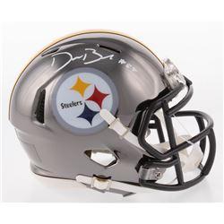 Devin Bush Signed Pittsburgh Steelers Chrome Speed Mini-Helmet (Radtke COA)