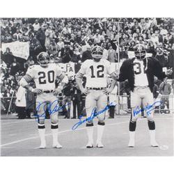 Terry Bradshaw, Franco Harris,  Rocky Bleier Signed Steelers 16x20 Photo (JSA COA)